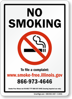 No Smoking To File A Complaint Sign