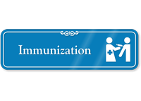 Immunization Hospital Showcase Sign