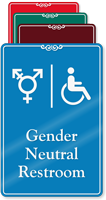Handicap Gender Neutral Symbol Restroom ShowCase Sign
