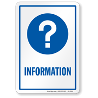 Information Hospital Sign with Question Mark Symbol