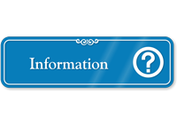 Information Hospital Showcase Sign