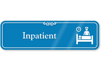Inpatient Showcase Hospital Sign With Symbol