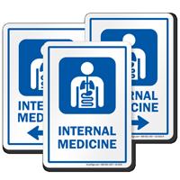 Internal Medicine Internists Hospital Sign