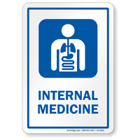 Internal Medicine Internists Hospital Sign