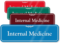 Internal Medicine Showcase Hospital Sign