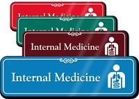 Internal Medicine Hospital Showcase Sign