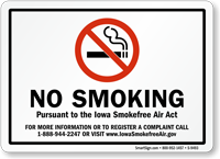 Iowa Smokefree Air Act Sign
