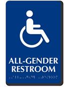 All-Gender Sintra Braille Restroom ISA Symbol Sign