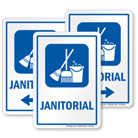 Janitorial Sign with Symbol