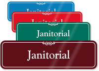 Janitorial ShowCase Wall Sign