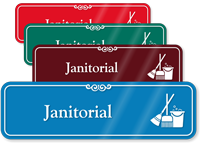 Janitorial Hospital Showcase Sign