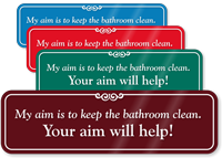 Keep Bathroom Clean Humorous Restroom Wall Sign