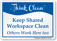 Keep Shared Workplace Clean Sign