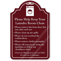 Keep Your Laundry Room Clean ShowCase Sign