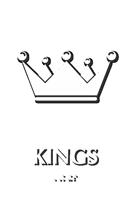 Kings Crown Braille Restroom Sign