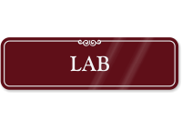 Lab ShowCase Wall Sign