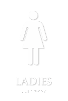 Tactile Touch Braille Sign With Female Pictogram