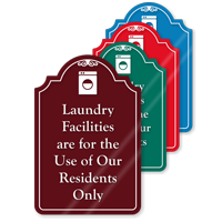Laundry Facilities For Residents Only ShowCase Sign