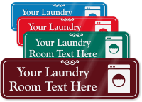 Laundry Room Symbol Sign