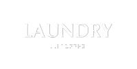 Laundry TactileTouch™ Braille Sign