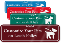 Pets on Leash Symbol Sign