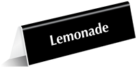 Lemonade Tabletop Tent Sign