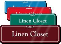 Linen Closet ShowCase Wall Sign