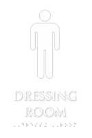 Dressing Room TactileTouch Braille Sign with Male Symbol