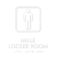 Male Locker Room TactileTouch™ Braille Sign
