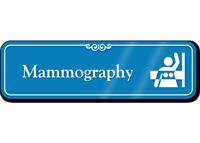 Mammography Hospital Showcase Sign