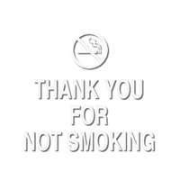 Thank You for Not Smoking Graphic Sign