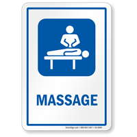 Massage Sign with Masseur Symbol