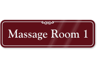 Massage Room 1 ShowCase Wall Sign