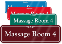 Massage Room 4 ShowCase Wall Sign