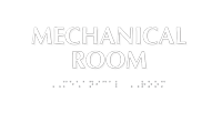 Mechanical Room Tactile Touch Braille Sign