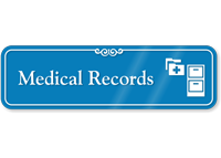 Medical Records Hospital Showcase Sign