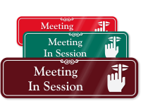Meeting In Session ShowCase Wall Sign