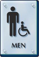Men And Handicap Restroom ClearBoss Sign