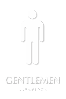 Tactile Touch Braille Sign With Male Pictogram
