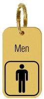 Brass Engraved Men Keychain