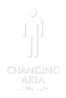 Men Changing Area TactileTouch™ Sign with Braille
