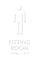 Men Fitting Room TactileTouch™ Sign with Braille