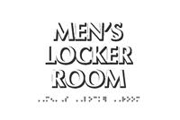 Men's Locker Room TactileTouch Braille Sign