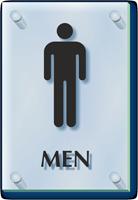 Men Restroom ClearBoss Sign