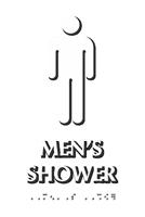 Men's Shower Tactile Touch Braille Door Sign