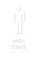 Men Staff TactileTouch Braille Restroom Sign