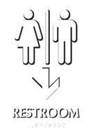 Men & Women Pictograms With Down Arrow