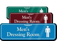 Men's Dressing Room ShowCase Wall Sign
