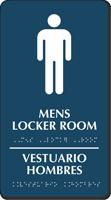 Bilingual Men's Locker Room TactileTouch Braille Sign
