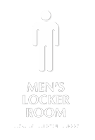 Mens Locker Room Graphic Sign